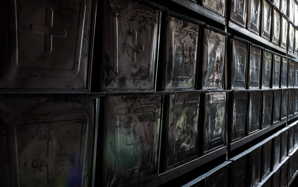 Ossuary Boxes in the Crypt