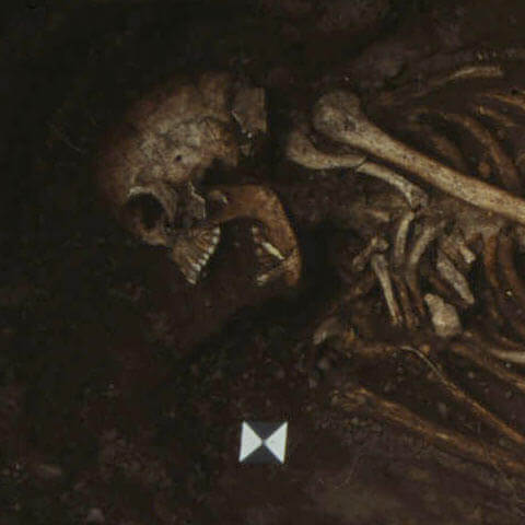 A skeleton in the bowl hole graveyard