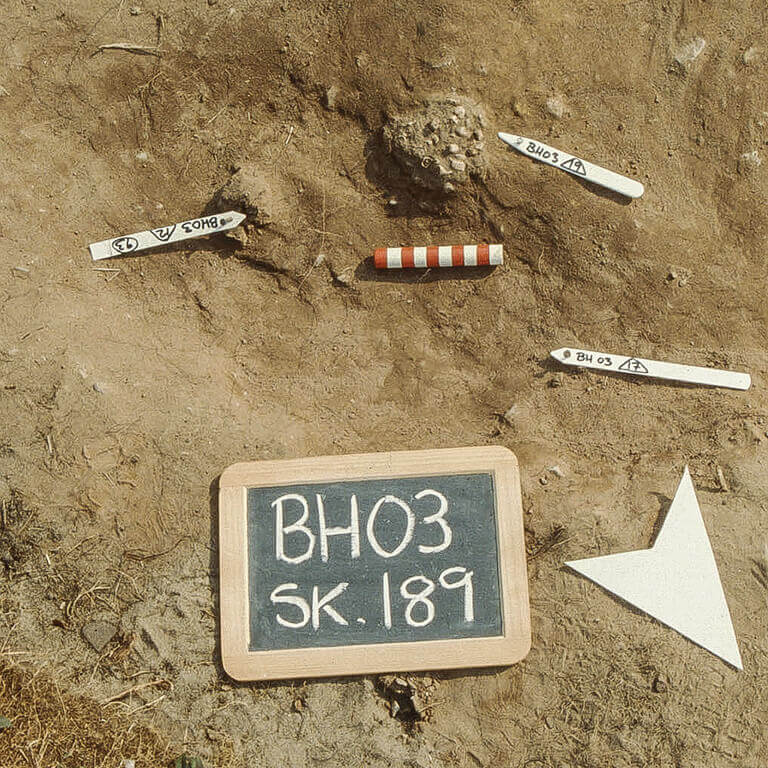 A skeleton with codename Ġift as discovered in the bowl hole graveyard