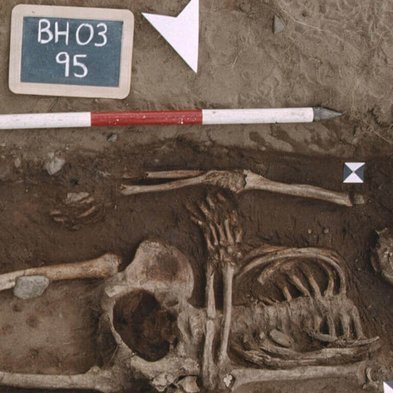 A skeleton with codename bān-cofa as discovered in the bowl hole graveyard