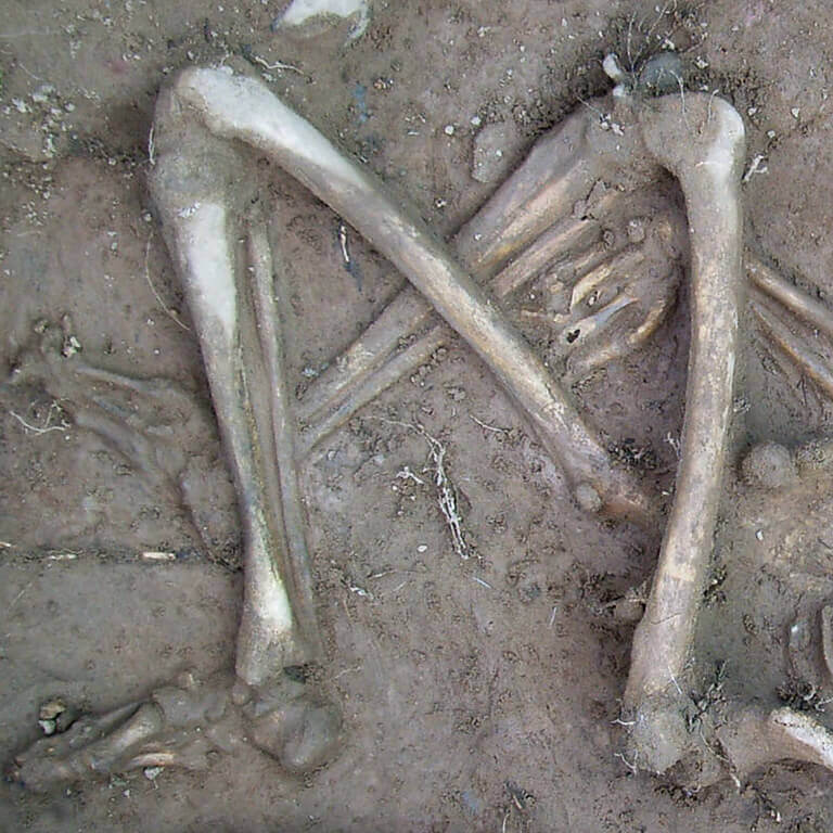 A skeleton with codename Cwalu as discovered in the bowl hole graveyard