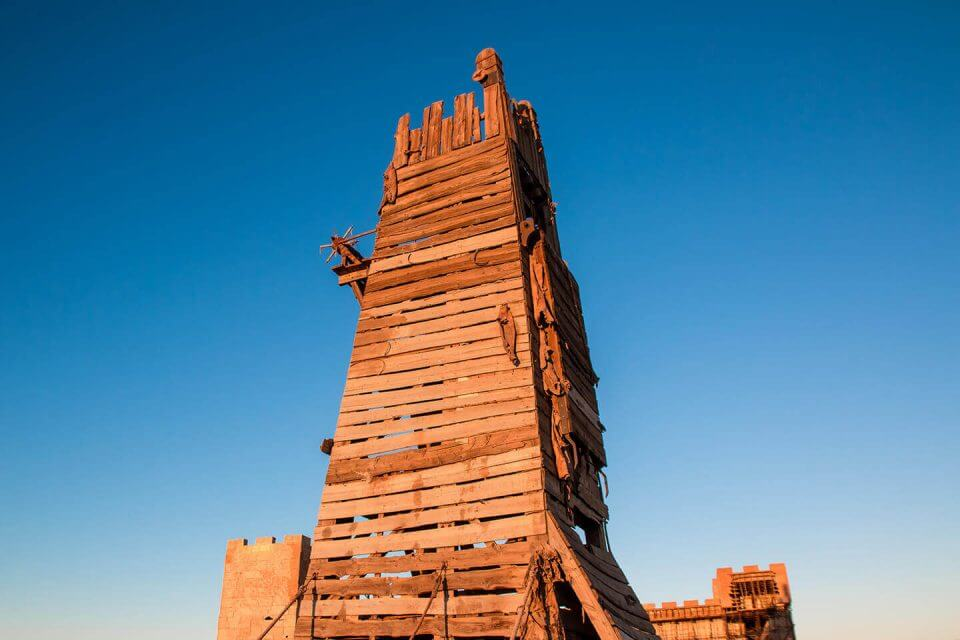 Wooden siege tower replica